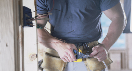 Electrician working image